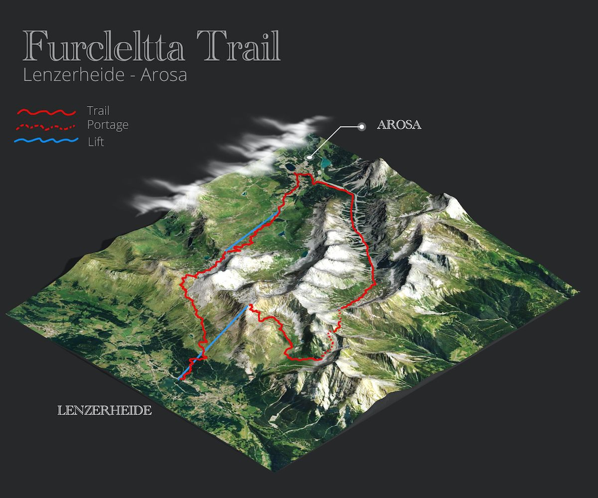 Furcletta Trail Map mtb tour