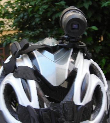 videocamera sul casco