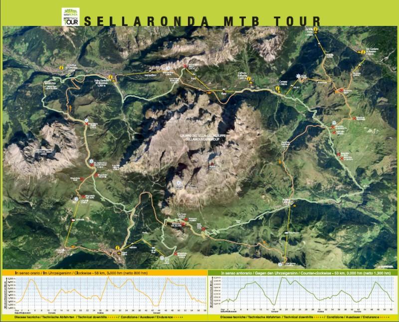 sellaronda escursioni in mountain bike