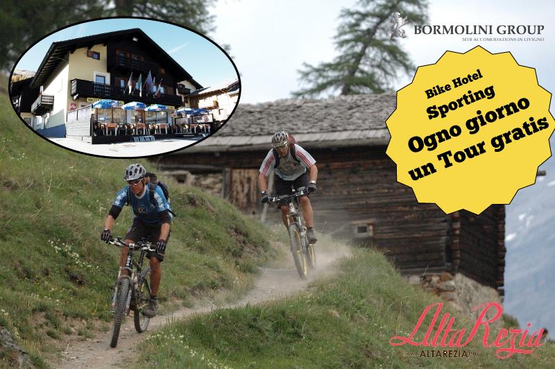 livigno hotel sporting tour mtb gratuiti