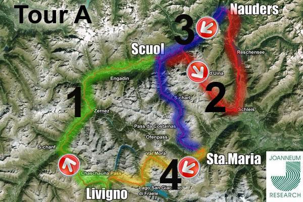 mappa dreilandertour mtb