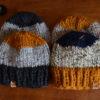 berretto lana a righe lana grossa sportivo